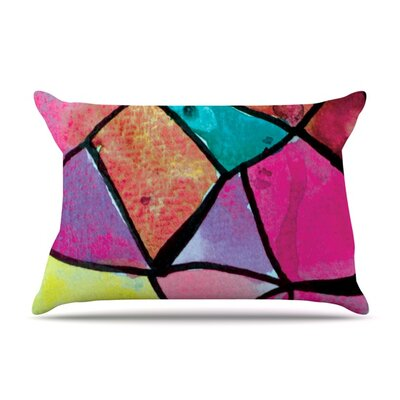 Stain Glass 3 by Theresa Giolzetti Featherweight Pillow Sham Size: Queen, Fabric: Woven Polyester