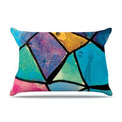 Stain Glass 2 by Theresa Giolzetti Featherweight Pillow Sham Size: King, Fabric: Woven Polyester