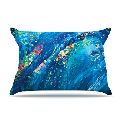 Big Wave by Theresa Giolzetti Featherweight Pillow Sham Size: King, Fabric: Woven Polyester