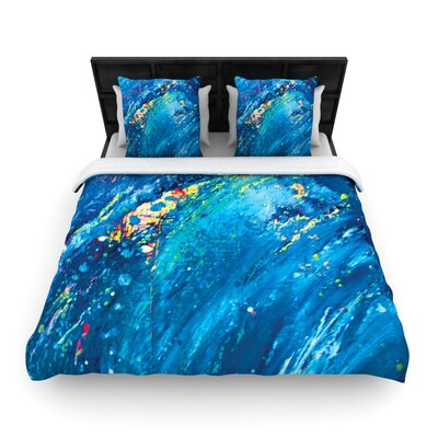 Big Wave Woven Comforter Duvet Cover Size: Twin