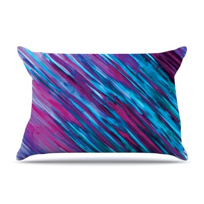 Set by Theresa Giolzetti Featherweight Pillow Sham Color: Purple, Size: King, Fabric: Woven Polyester