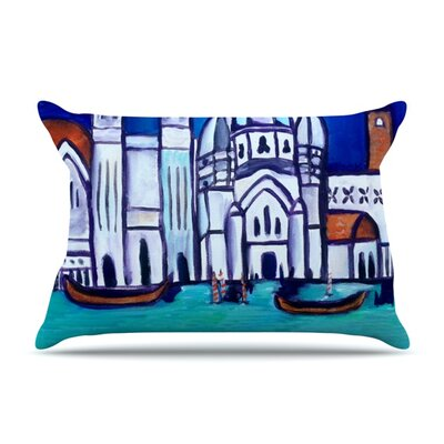 Venice by Theresa Giolzetti Featherweight Pillow Sham Size: King, Fabric: Woven Polyester