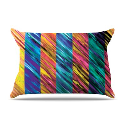 Set Stripes I by Theresa Giolzetti Featherweight Pillow Sham Size: Queen, Fabric: Woven Polyester