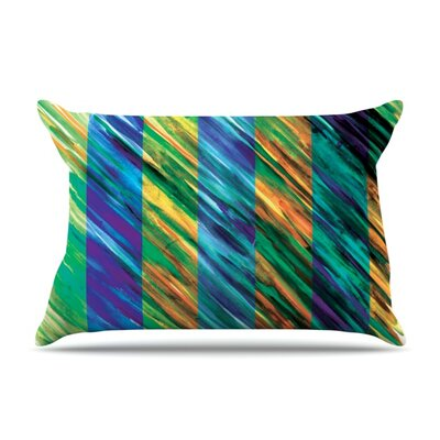 Set Stripes II by Theresa Giolzetti Featherweight Pillow Sham Size: Queen, Fabric: Woven Polyester