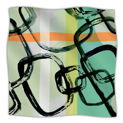 Sixties Stripe Throw Blanket Size: 80 L x 60 W