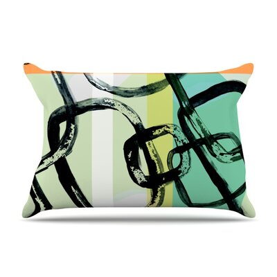 Sixties Stripe by Theresa Giolzetti Featherweight Pillow Sham Size: Queen, Fabric: Woven Polyester