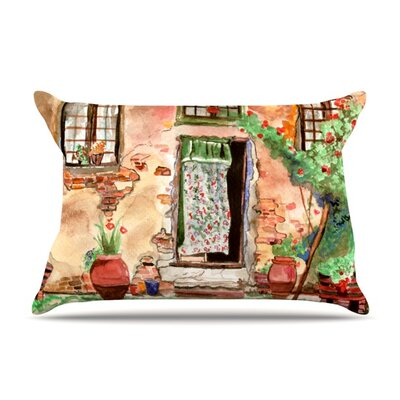 Tuscan Door Pillow Case Size: Standard