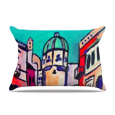 Procida Teal by Theresa Giolzetti Featherweight Pillow Sham Size: Queen, Fabric: Woven Polyester