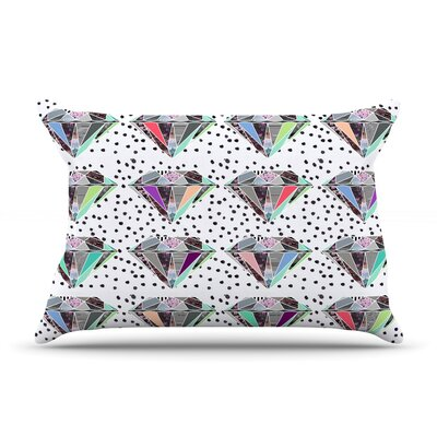Polka Dot Diamonds by Vasare Nar Featherweight Pillow Sham Size: King, Fabric: Woven Polyester