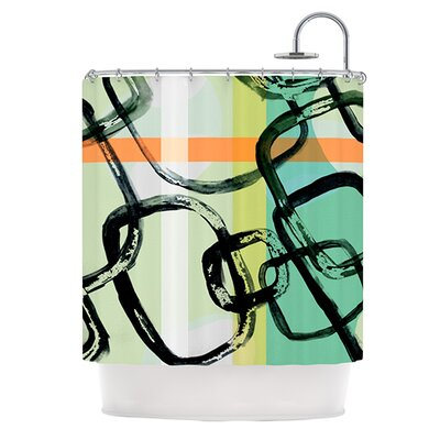 Sixties Stripe Shower Curtain