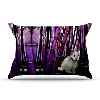 Bamboo Bunny by Theresa Giolzetti Featherweight Pillow Sham Size: King, Fabric: Woven Polyester