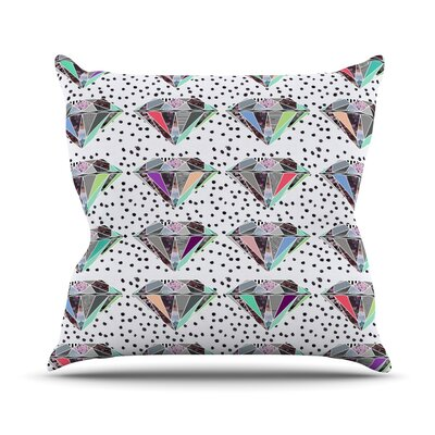 Polka Dot Diamond Throw Pillow Size: 16 H x 16 W