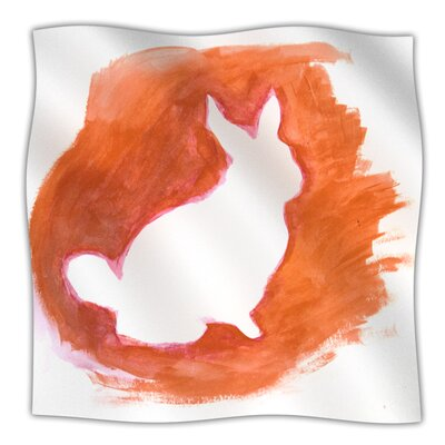 Throw Blanket Color: Orange You A Bunny, Size: 60 L x 50 W