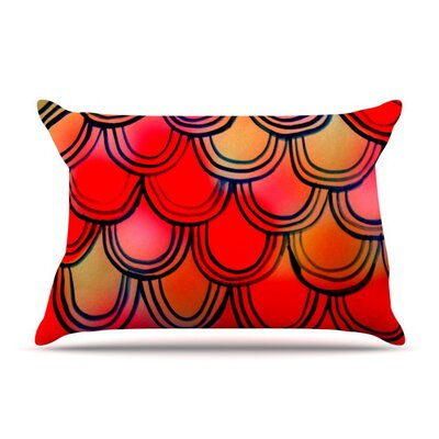 Dragon Tail by Theresa Giolzetti Featherweight Pillow Sham Size: King, Fabric: Woven Polyester