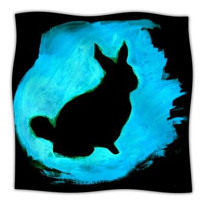 Throw Blanket Size: 40 L x 30 W, Color: Blue Moon Bunny