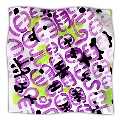 Throw Blanket Color: Theodoras Mood, Size: 90 L x 90 W