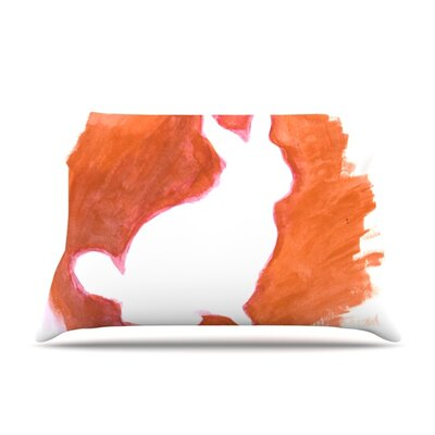 Orange You A Bunny by Theresa Giolzetti Featherweight Pillow Sham Size: King, Fabric: Woven Polyester