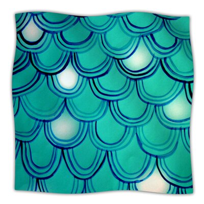 Throw Blanket Color: Mermaid Tail, Size: 60 L x 50 W