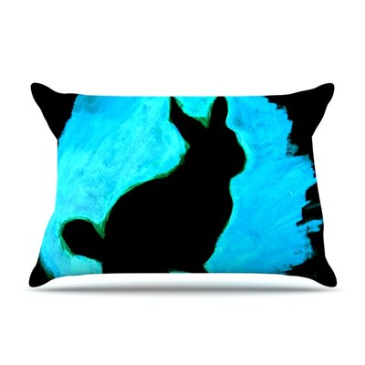 Pillow Case Size: King, Color: Blue Moon Bunny