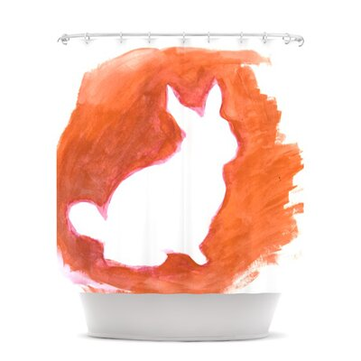 Shower Curtain Color: Orange You A Bunny