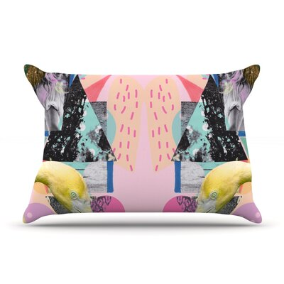 Flamingo Tropical by Vasare Nar Featherweight Pillow Sham Size: King, Fabric: Woven Polyester