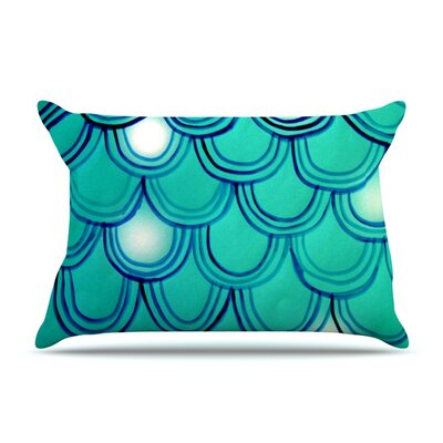 Mermaid Tail by Theresa Giolzetti Featherweight Pillow Sham Size: King, Fabric: Woven Polyester