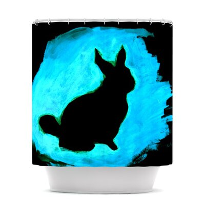 Shower Curtain Color: Blue Moon Bunny