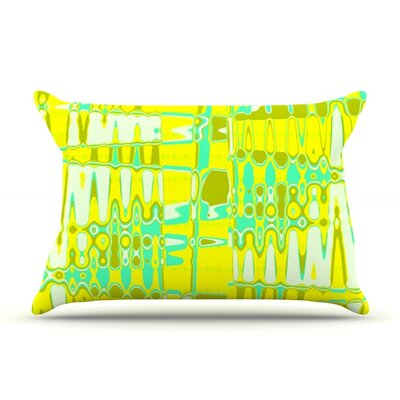 Changing Gears by Vikki Salmela Featherweight Pillow Sham Size: Queen, Color: Sunshine, Fabric: Woven Polyester