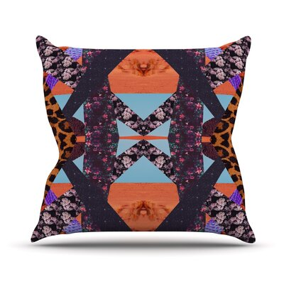 Pillow Kaleidoscopic Throw Pillow Size: 18 H x 18 W