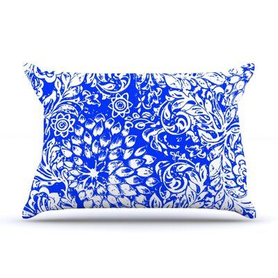 Bloom Blue for You by Vikki Salmela Featherweight Pillow Sham Size: Queen, Fabric: Woven Polyester