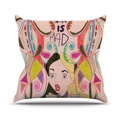 Alice in Wonderland Throw Pillow Size: 18 H x 18 W