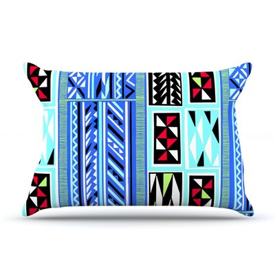 American Blanket Pattern by Vikki Salmela Featherweight Pillow Sham Size: Queen, Fabric: Woven Polyester