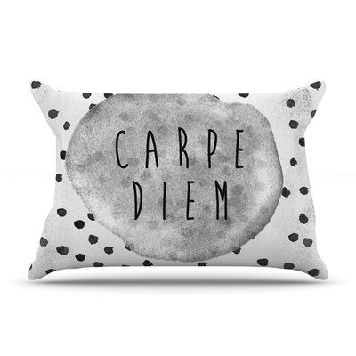 Carpe Diem by Vasare Nar Featherweight Pillow Sham Size: King, Fabric: Woven Polyester