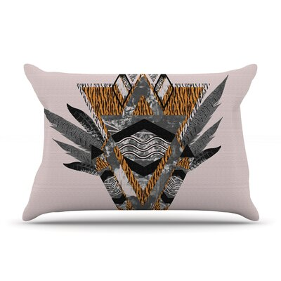 Indian Feather Pillow Case Size: King