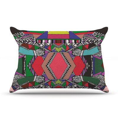 African Motif by Vasare Nar Featherweight Pillow Sham Size: King, Fabric: Woven Polyester