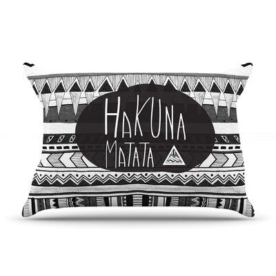 Hakuna Matata by Vasare Nar Featherweight Pillow Sham Size: King, Fabric: Woven Polyester