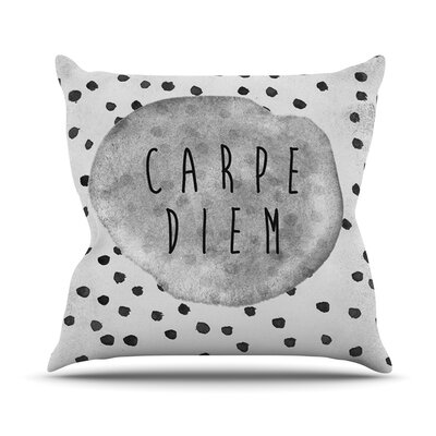 Carpe Diem Throw Pillow Size: 16 H x 16 W