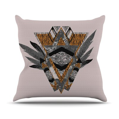 Indian Feather Throw Pillow Size: 26 H x 26 W