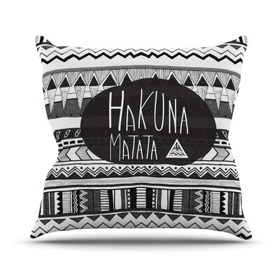 Hakuna Matata Throw Pillow Size: 16 H x 16 W