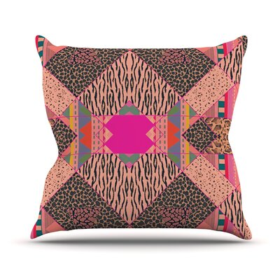 New Wave Zebra Throw Pillow Size: 18 H x 18 W