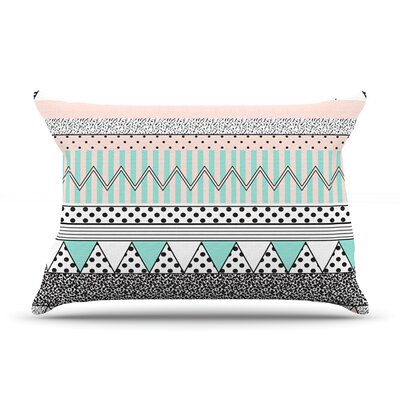 Chevron Motif Pillow Case Size: King