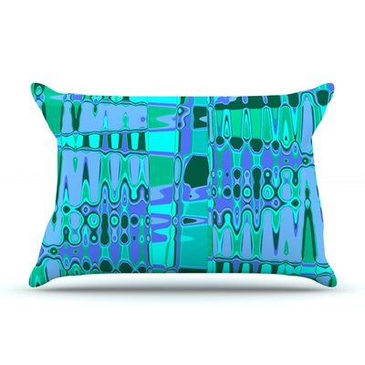 Changing Gears by Vikki Salmela Featherweight Pillow Sham Size: King, Color: Blue, Fabric: Woven Polyester