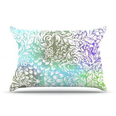 Blue Bloom Softly for You by Vikki Salmela Featherweight Pillow Sham Size: King, Fabric: Woven Polyester