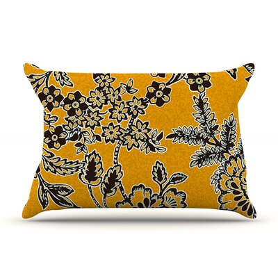Golden Blossom by Vikki Salmela Featherweight Pillow Sham Size: King, Fabric: Woven Polyester
