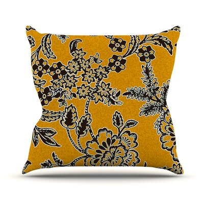 Throw Pillow Size: 16 H x 16 W, Color: Golden Blossom