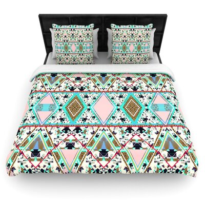 Deco Hippie Woven Comforter Duvet Cover Size: Full/Queen