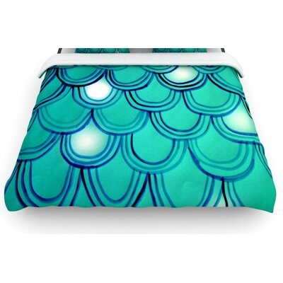 Mermaid Tail by Theresa Giolzetti Woven Duvet Cover Size: Twin