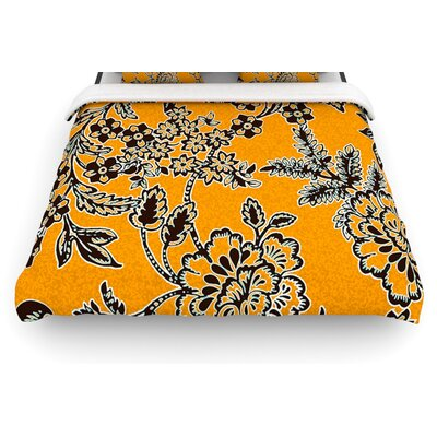 Golden Blossom by Vikki Salmela Woven Duvet Cover Size: King/California King
