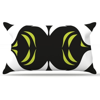Green White Jaws Pillow Case Size: King