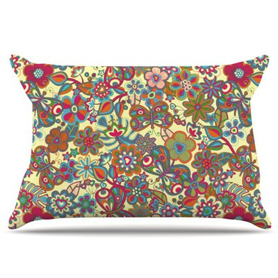 My Butterflies and Flowers Fleece Pillow Case Size: King